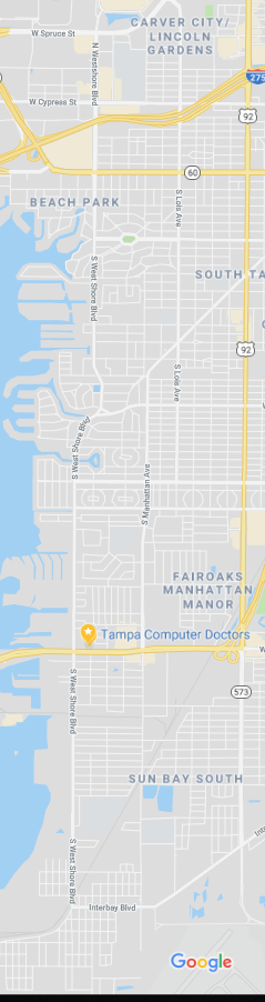 Westshore Computer Repair near me tampa map